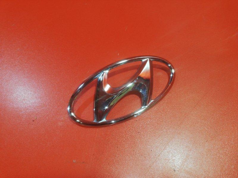 Эмблема Hyundai Solaris RB G4FC 2014 задняя (б/у)