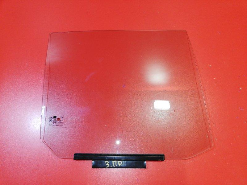 Стекло двери Hyundai Getz TB G4EA 2005 заднее правое (б/у)