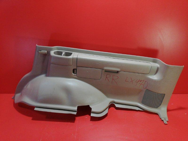 Обшивка багажника Lexus Lx470 UZJ100 2UZ-FE 1998 задняя правая нижняя (б/у)