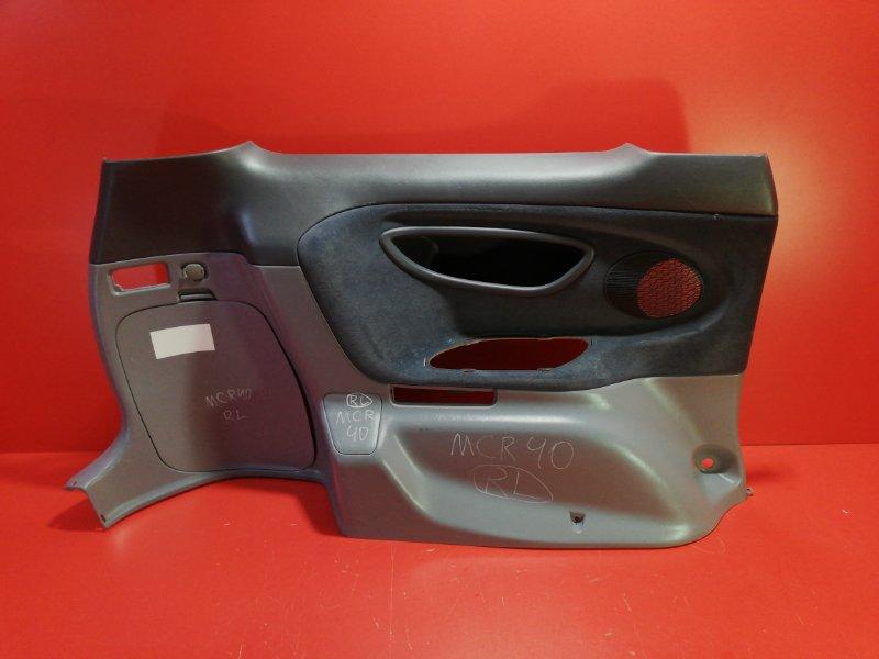Обшивка багажника Toyota Estima MCR40 1MZ-FE 1999 задняя левая нижняя (б/у)