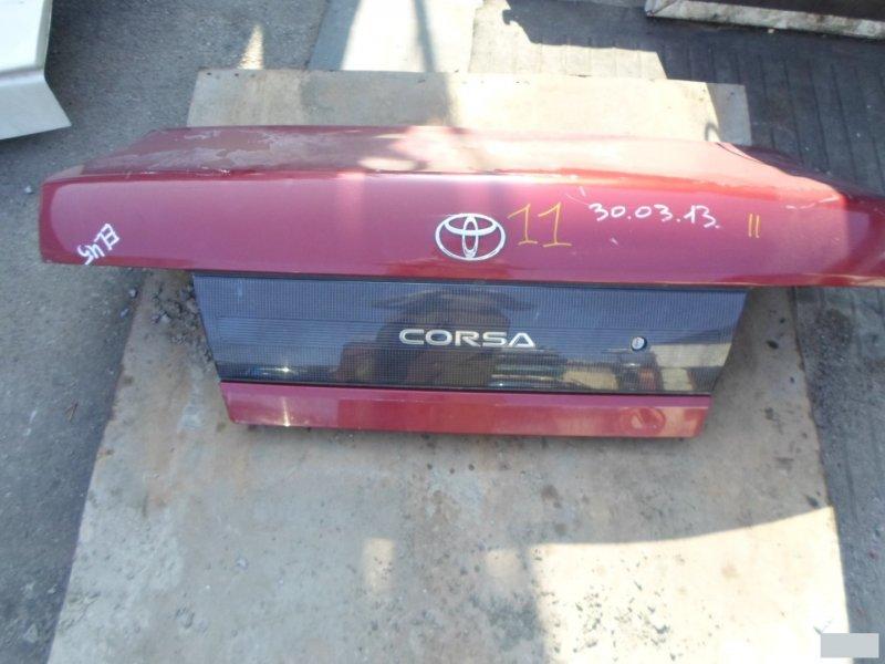 Крышка багажника Toyota Corsa EL45 5EFE (б/у) 11