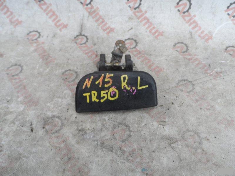 Ручка двери внешняя Nissan Terrano PR50 TD27ETI задняя левая (б/у)