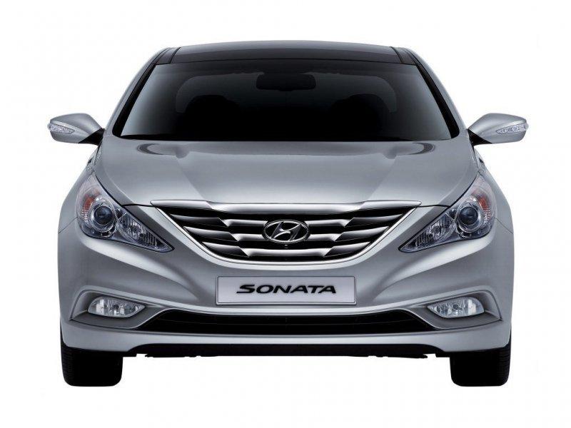 Решетка бамперная Hyundai Sonata YF передняя 86561-3S000, HN07046GA