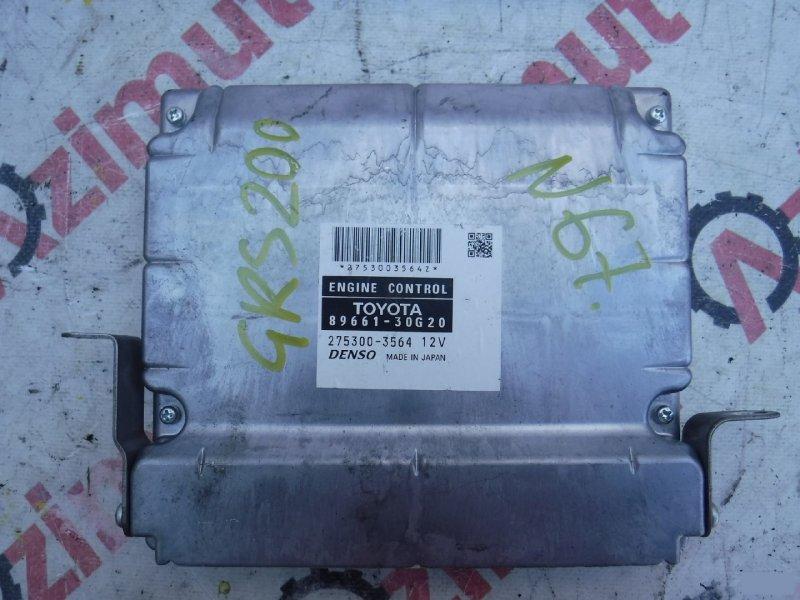 Блок управления efi Toyota Crown GRS200 4GRFSE (б/у) 67 8966130G20