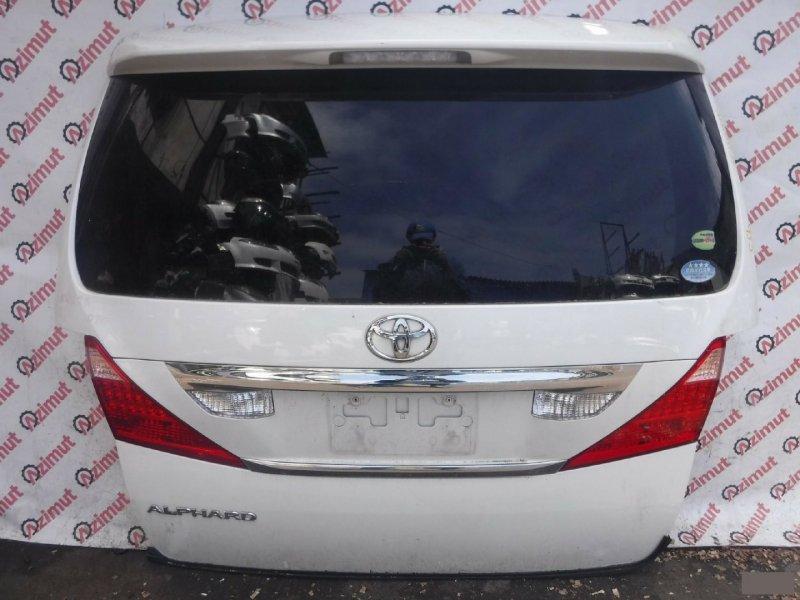 Дверь задняя Toyota Alphard ANH20W 2AZFE 2008г. задняя (б/у)