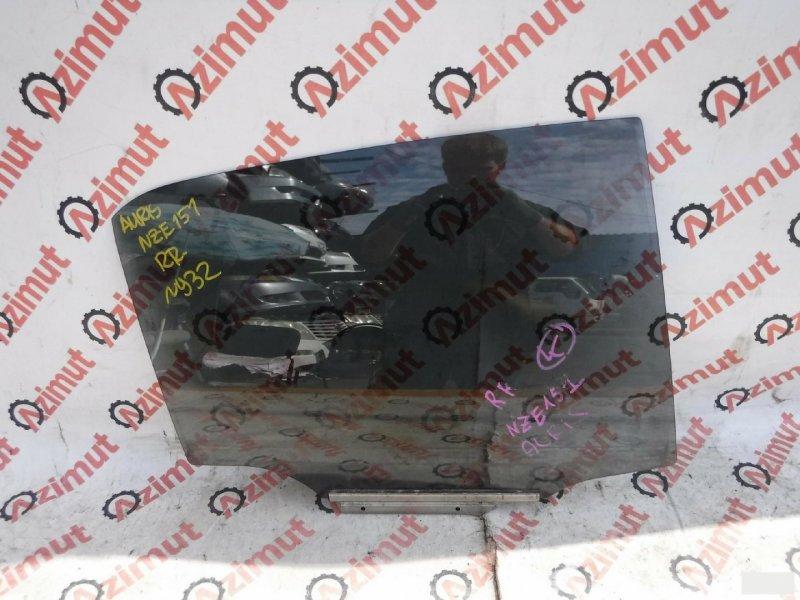 Стекло двери Toyota Auris NZE151H 1NZFE заднее правое (б/у)