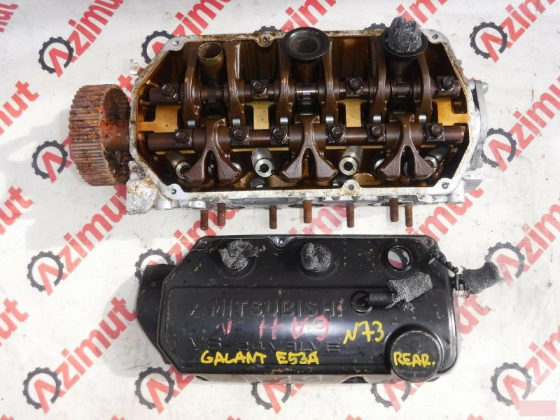 Головка блока цилиндров Mitsubishi Galant E53A 6A11 1993г. задняя (б/у)