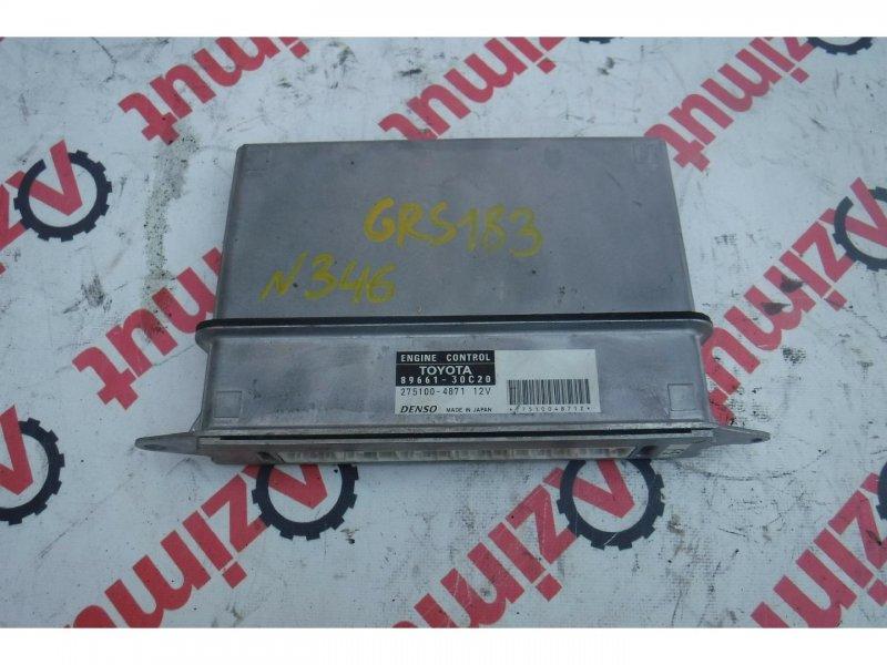 Блок управления efi Toyota Crown GRS183 3GRFSE (б/у) 346 8966130C20