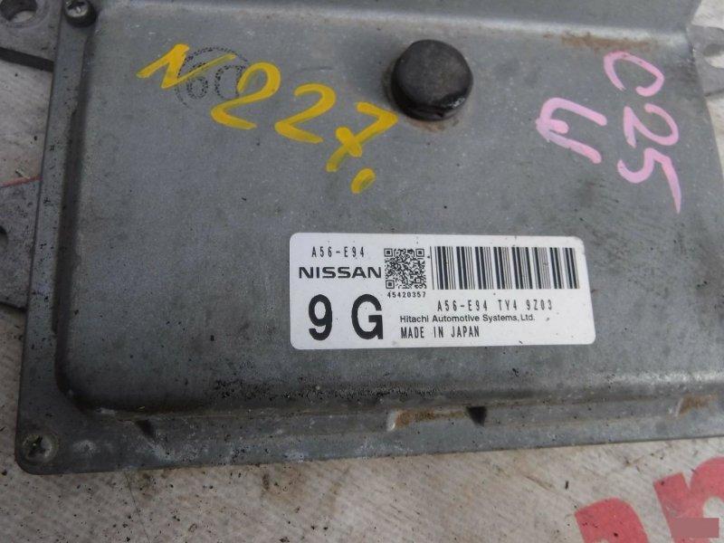 Блок управления efi Nissan Cube Z12 HR15DE (б/у) 227 A56E94