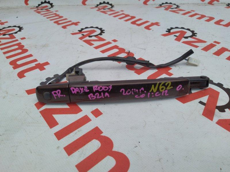 Ручка двери внешняя Nissan Dayz Roox B21A 2014 передняя правая (б/у) 62