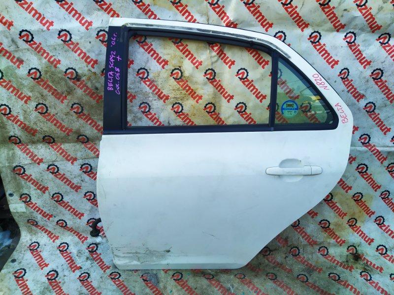 Дверь Toyota Belta SCP92 2006 задняя левая (б/у)