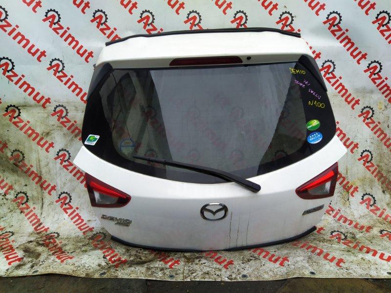 Дверь задняя Mazda Demio DJ3AS P3-VPS 2015 (б/у) 100