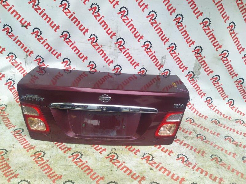 Крышка багажника Nissan Bluebird Sylphy QG10 QG18DE 2000 (б/у) 154
