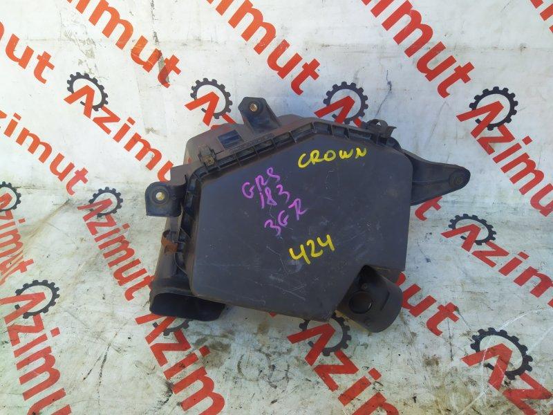 Корпус воздушного фильтра Toyota Crown GRS183 3GRFSE (б/у) 424