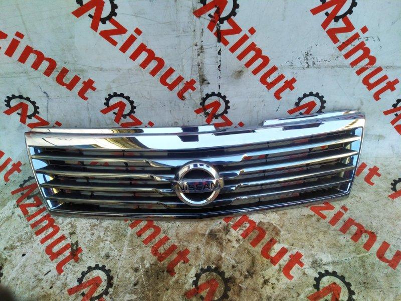 Решетка радиатора Nissan Liberty RNM12 QR20-DE 2003 (б/у) 62310WF700