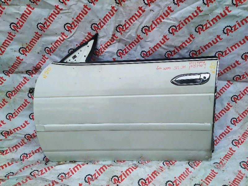 Дверь Nissan Laurel HC35 RB20DE 2002 передняя левая (б/у)