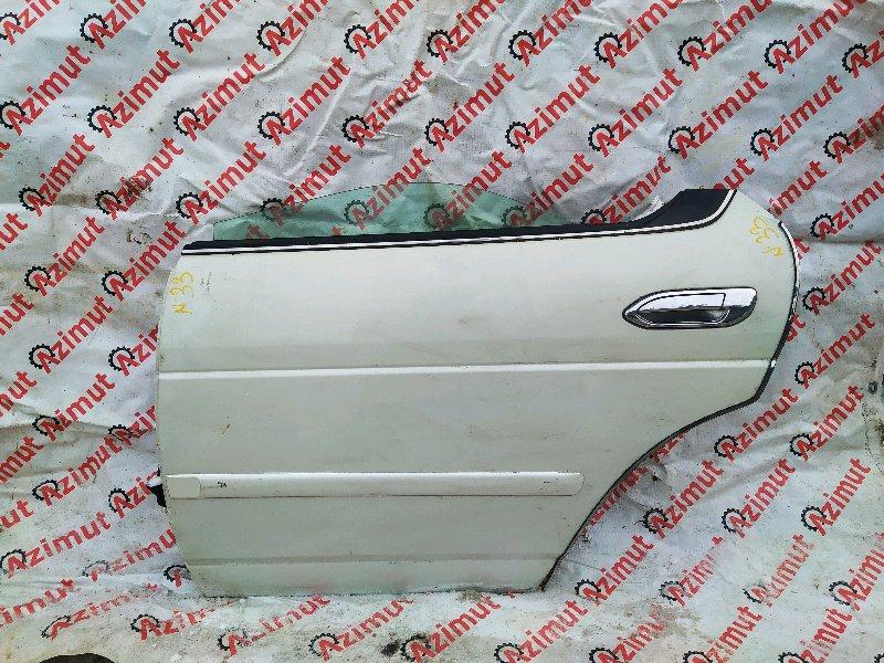 Дверь Nissan Laurel HC35 RB20DE 2002 задняя левая (б/у)