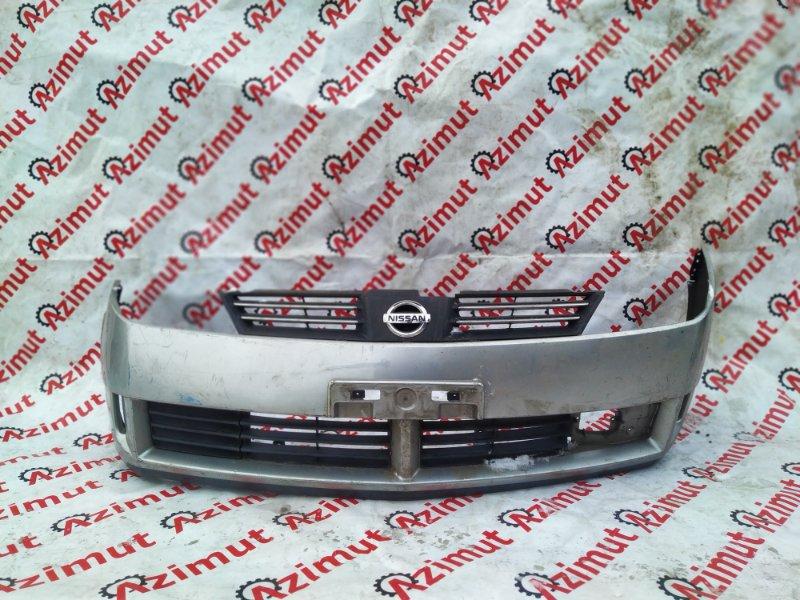 Бампер Nissan Wingroad WFY11 QG15DE 2003 передний (б/у)