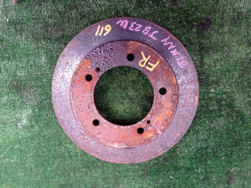 Тормозной диск Suzuki Jimny JB23W K6A-T 2001 передний правый (б/у)
