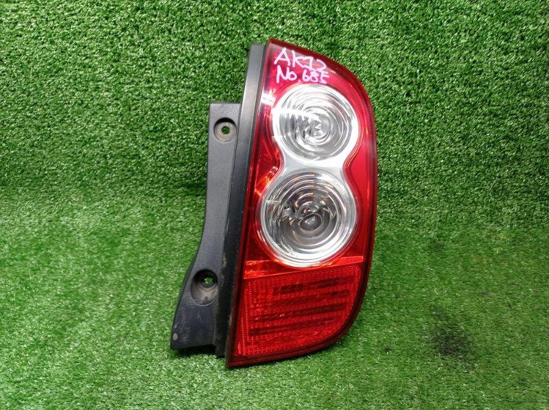 Стоп-сигнал Nissan March AK12 CR12DE 2008 задний правый (б/у)