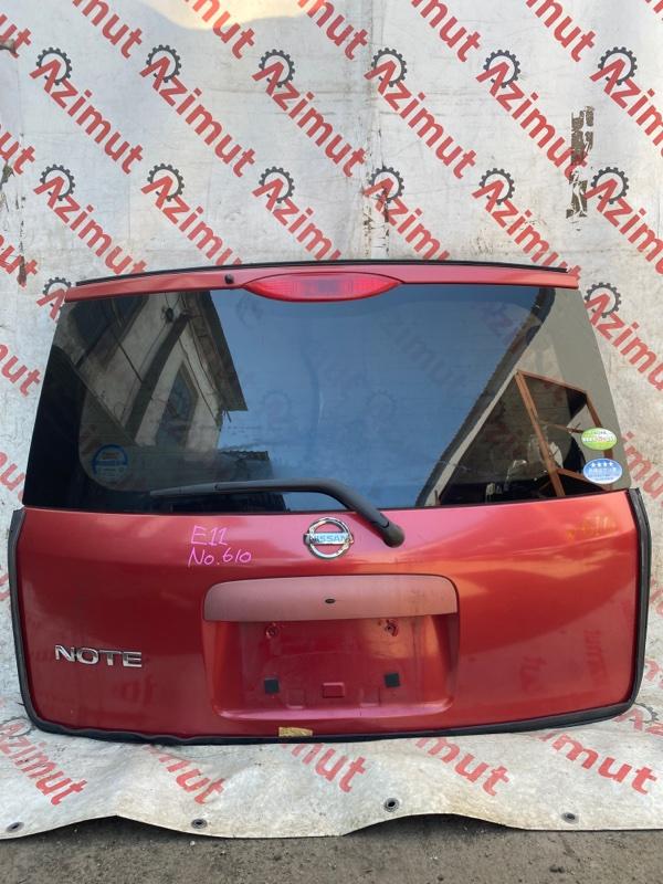 Дверь задняя Nissan Note E11 HR15DE 2010 (б/у)