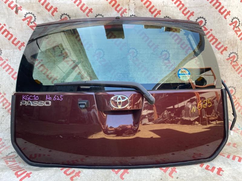 Дверь задняя Toyota Passo KGC10 1KRFE 2009 (б/у)