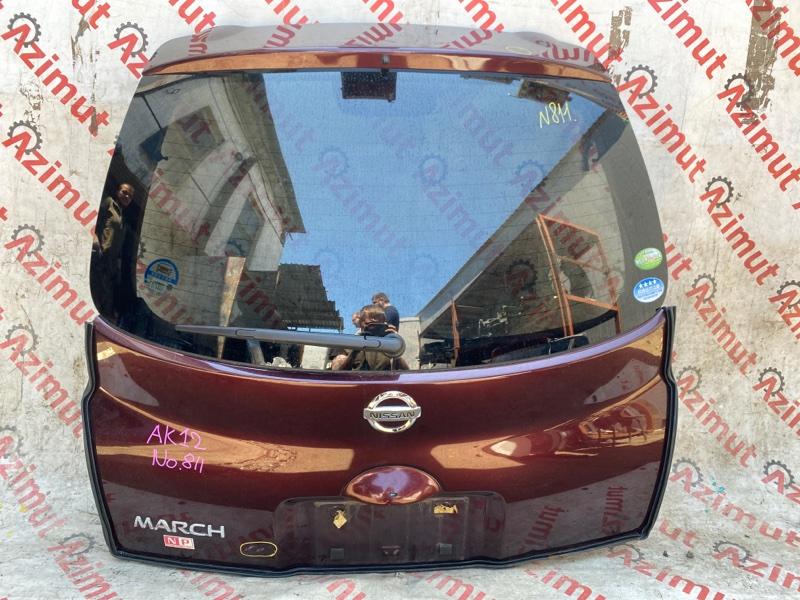 Дверь задняя Nissan March AK12 CR12DE 03/2008 (б/у)