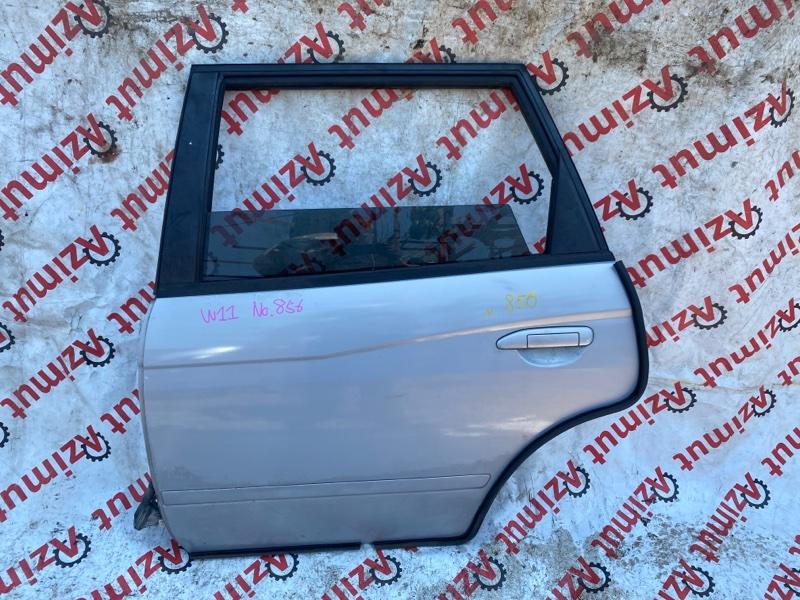 Дверь Nissan Avenir W11 QG18DE 05/2000 задняя левая (б/у)