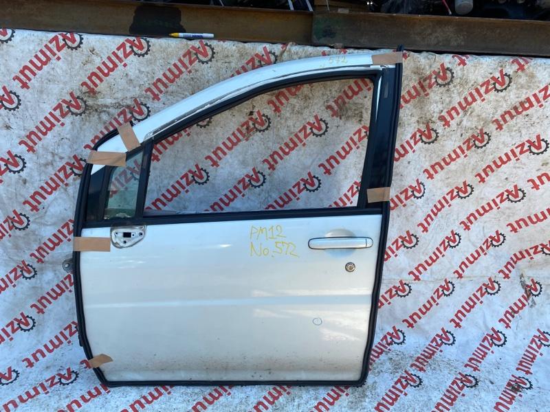 Дверь Nissan Liberty PM12 SR20DE 2000 передняя левая (б/у)