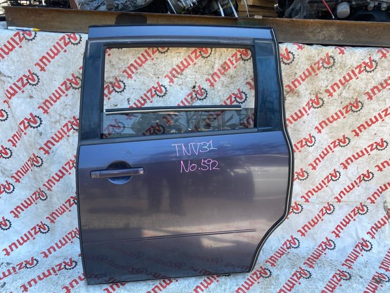 Дверь Nissan Presage TNU31 QR25DE 2004 задняя левая (б/у)