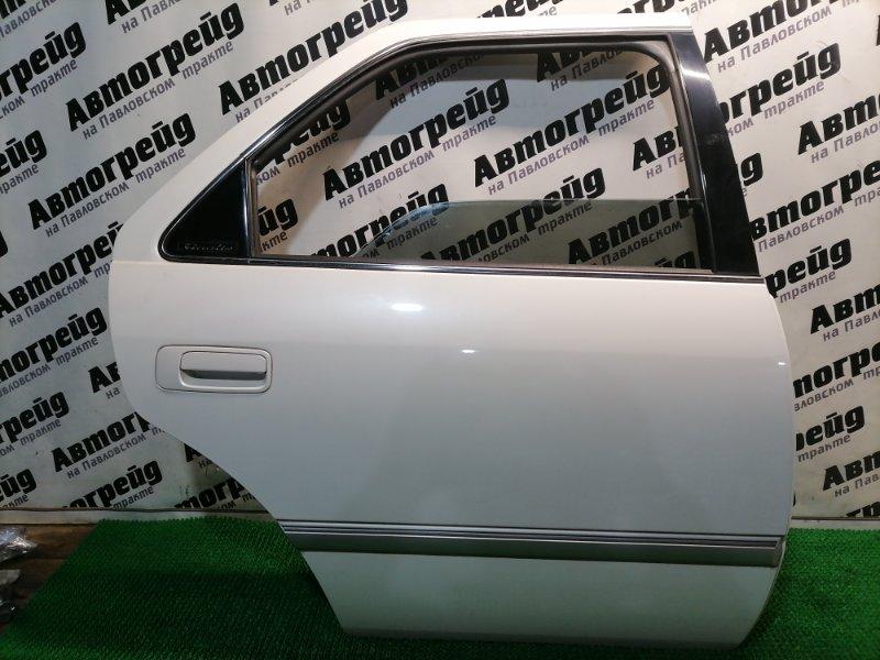 Дверь боковая Toyota Mark Ii Qualis SXV20 5S-FE 2001.05 задняя правая
