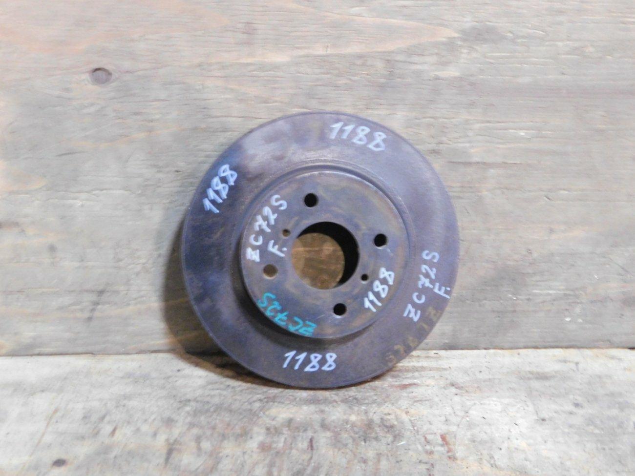 Тормозной диск Suzuki Swift ZC72S K12B передний (б/у)