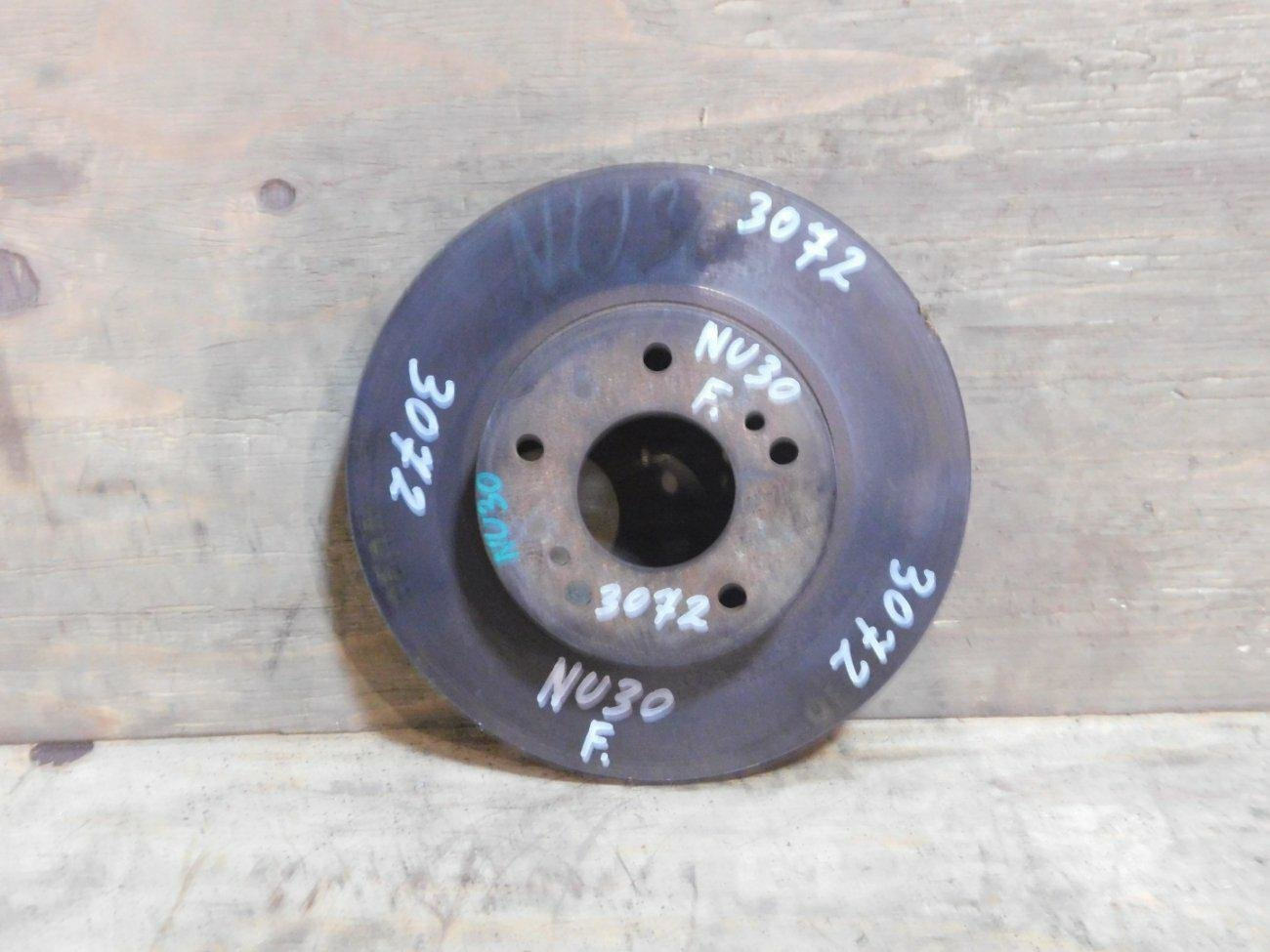 Тормозной диск Nissan Presage NU30 KA24 передний (б/у)