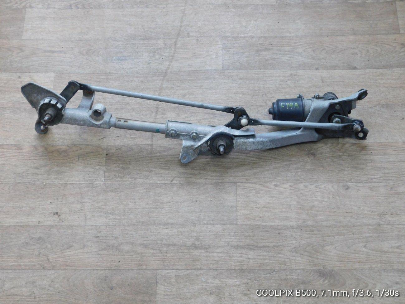 Мотор дворников Mitsubishi Galant Fortis CY4A 4B11 передний (б/у)