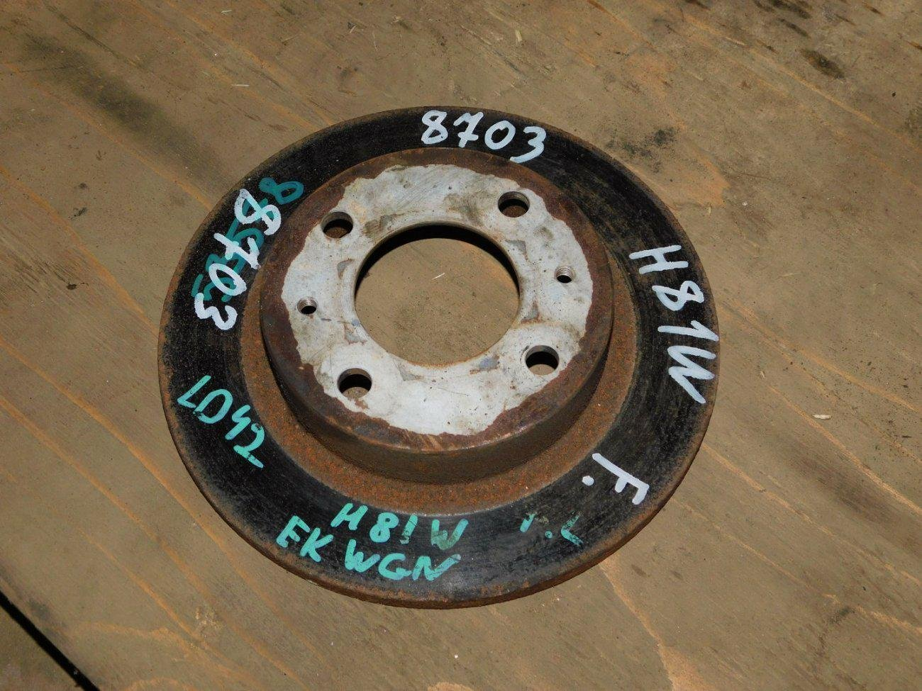Тормозной диск Mitsubishi Ек Wagon H81W 3G83 передний (б/у)