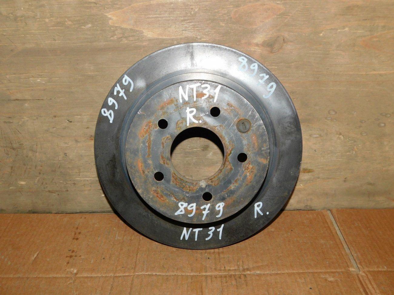 Тормозной диск Nissan X-Trail NT31 MR20DE задний (б/у)