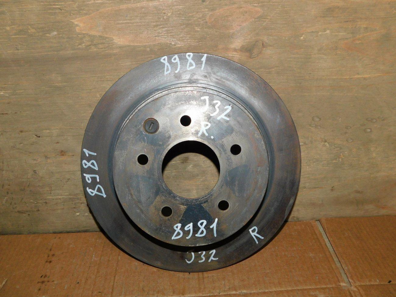 Тормозной диск Nissan Teana J32 VQ25DE задний (б/у)