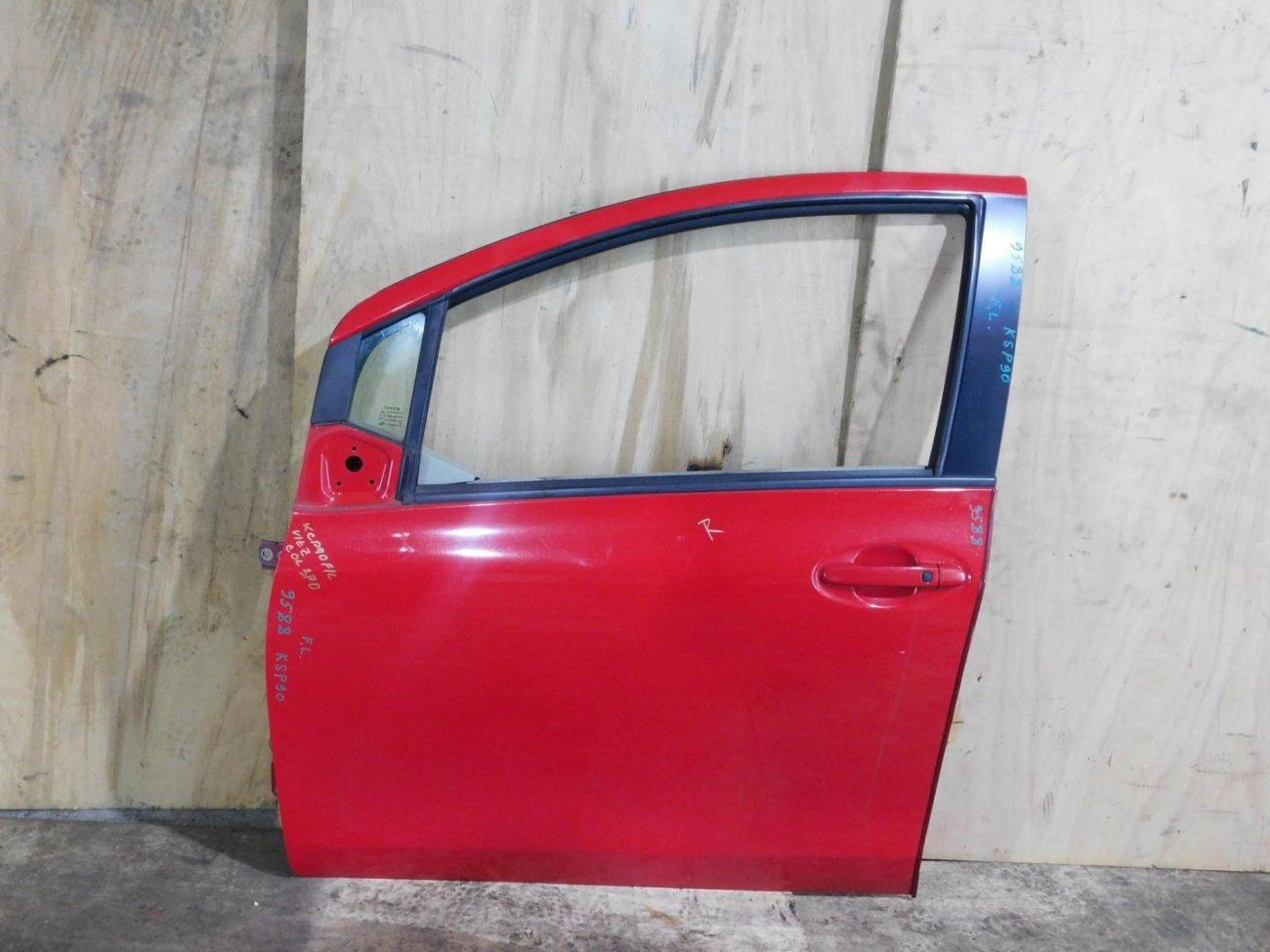 Дверь Toyota Vitz KSP90 передняя левая (б/у)