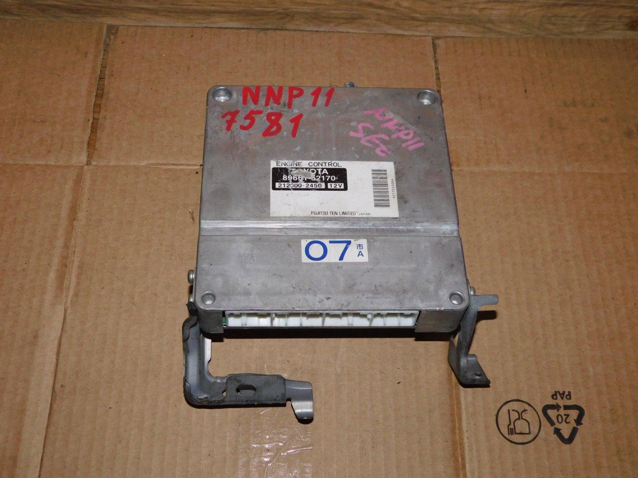 Блок управления efi Toyota Porte NNP11 1NZ-FE (б/у)