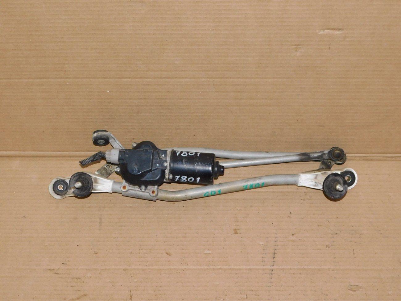 Мотор дворников Honda Fit GD1 передний (б/у)
