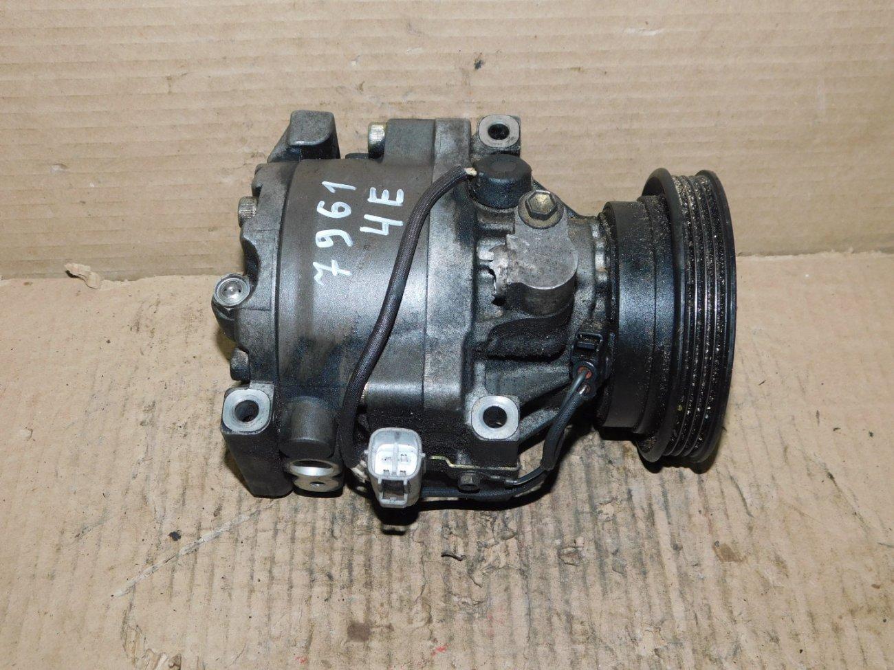 Компрессор кондиционера Toyota Tercel EL51 4E-FE (б/у)