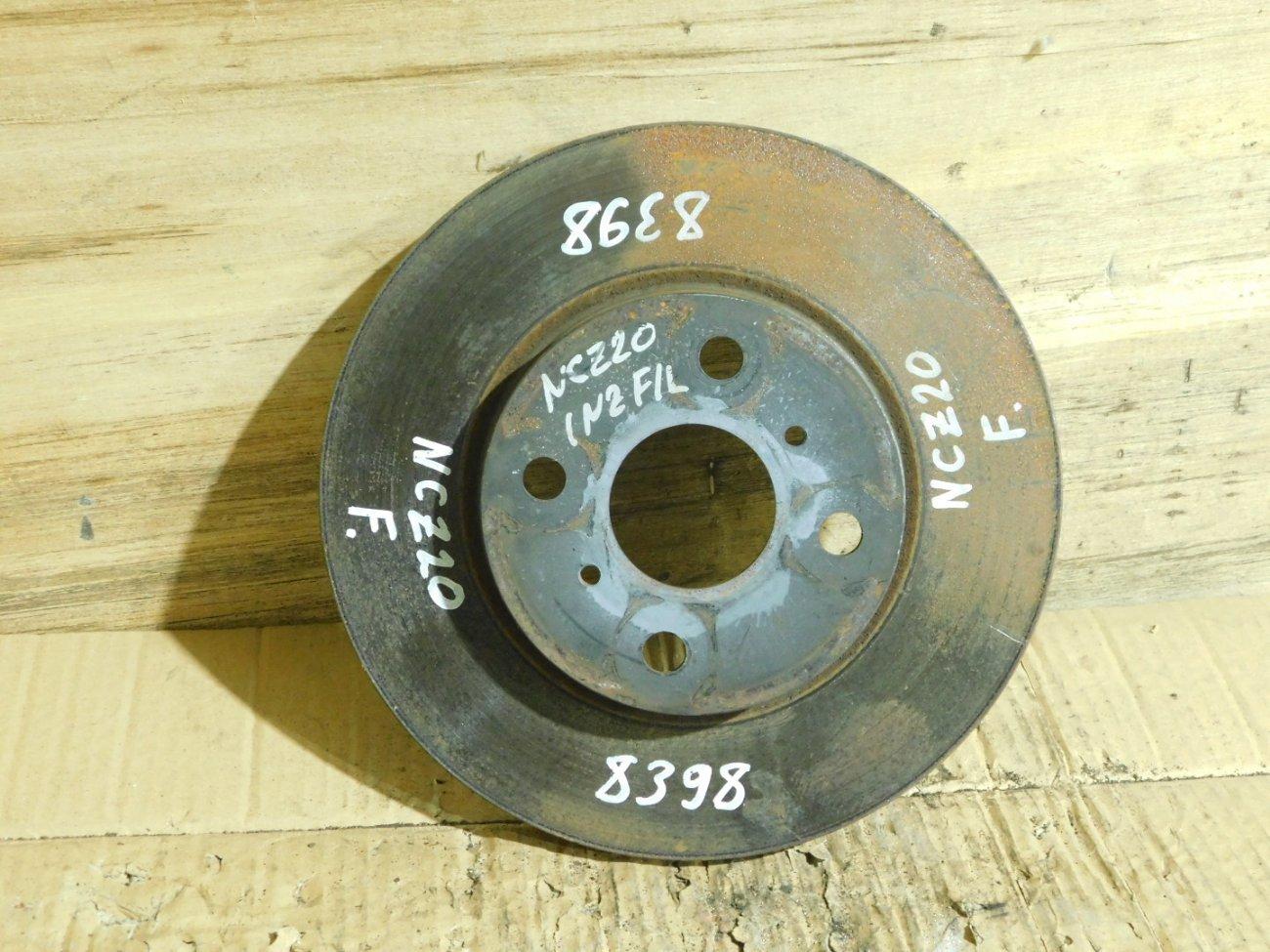 Тормозной диск Toyota Raum NCZ20 1NZ-FE передний (б/у)