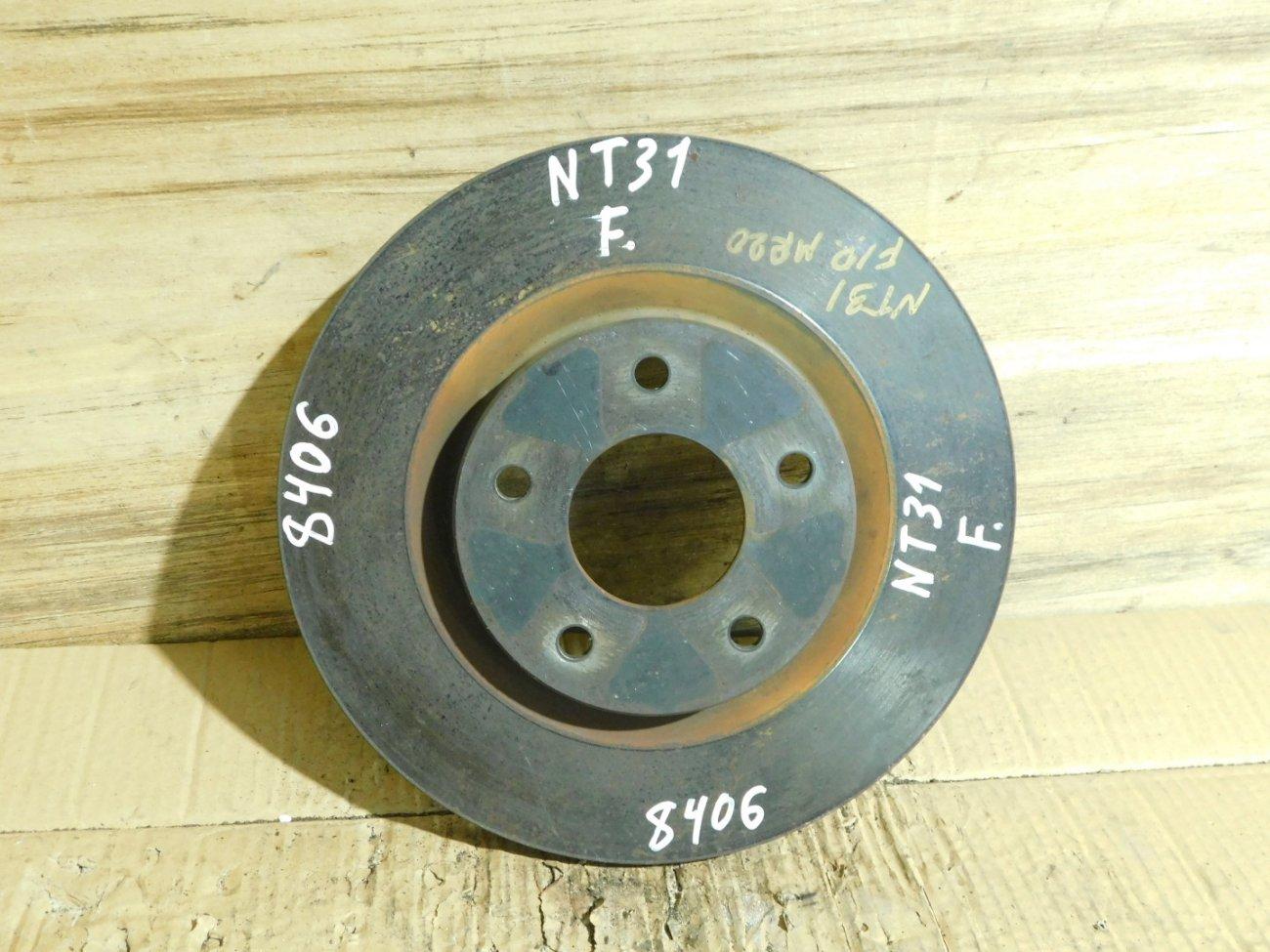 Тормозной диск Nissan Dualis DNT31 MR20DE передний (б/у)