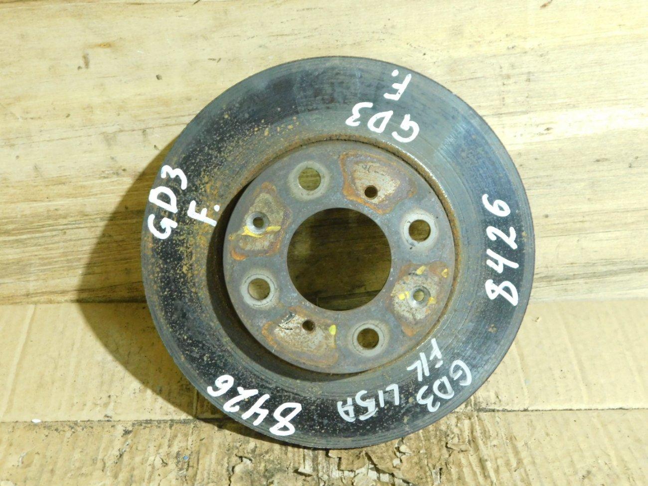 Тормозной диск Honda Fit GD3 L15A передний (б/у)
