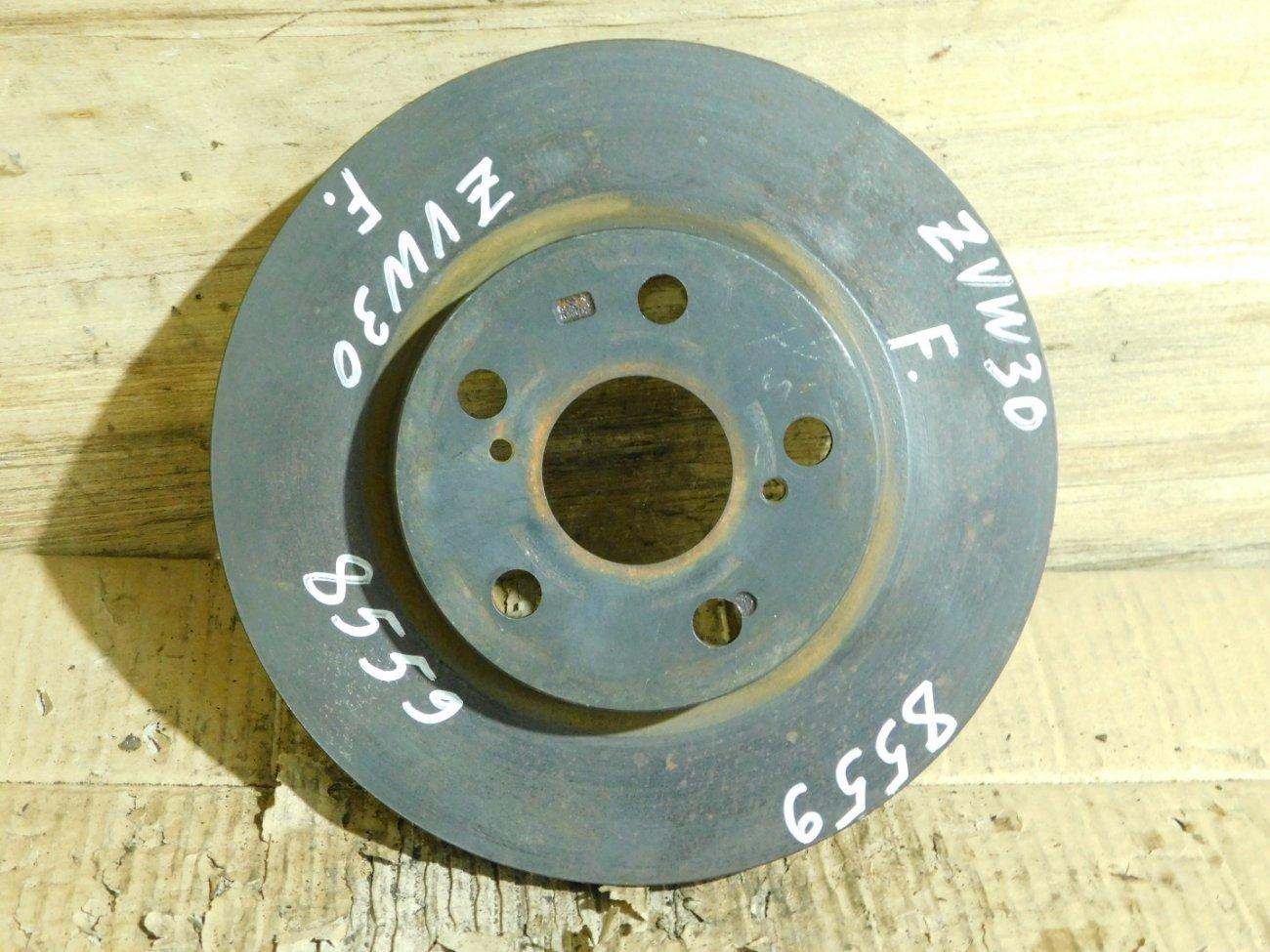 Тормозной диск Toyota Prius ZVW30 2ZR-FXE передний (б/у)