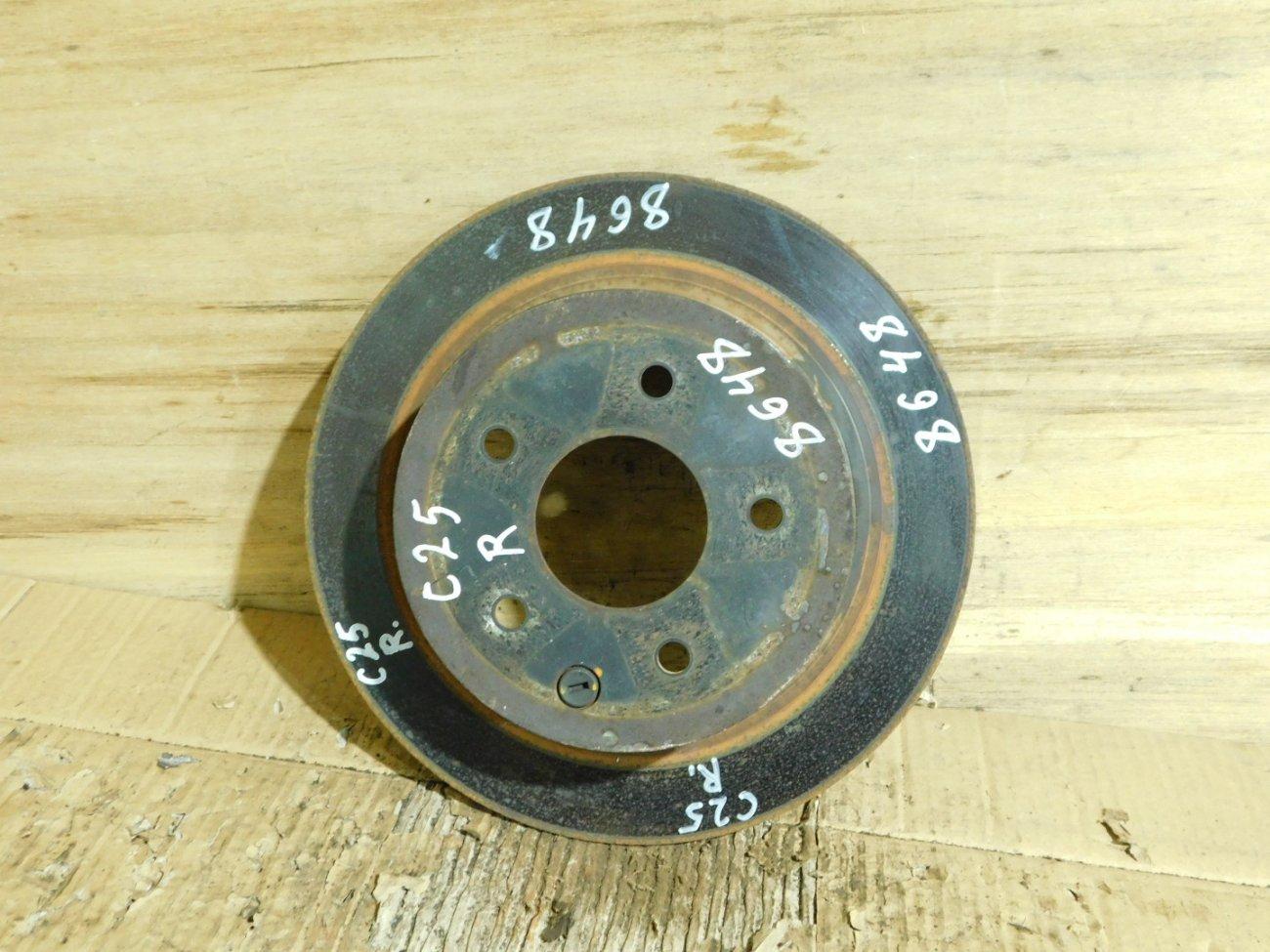 Тормозной диск Nissan Infiniti J32 MR20DE задний (б/у)