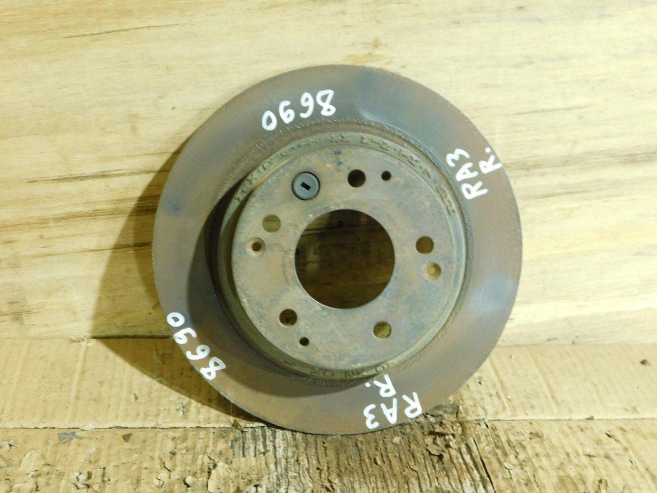 Тормозной диск Honda Accord CL7 F23A задний (б/у)