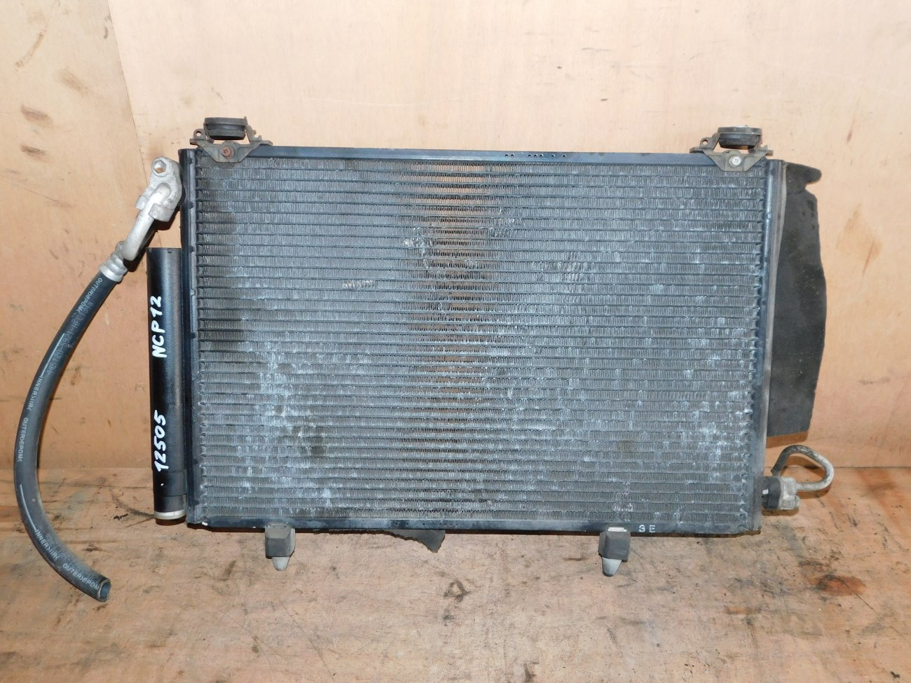 Радиатор кондиционера Toyota Platz NCP12 1NZ-FE (б/у)
