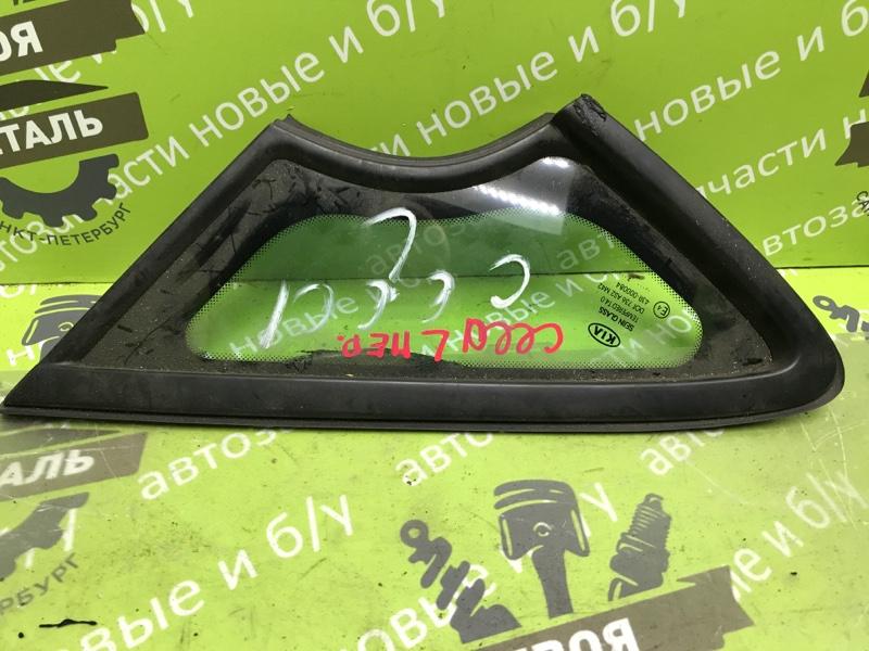 Стекло кузовное глухое Kia Ceed 2 Hb ХЭТЧБЭК G4FA 2012 переднее левое (б/у)