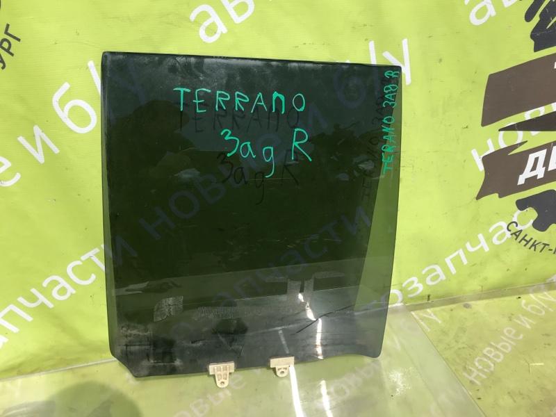 Стекло двери Nissan Terrano Pathfinder R50 ZD30DDTI 3.0 2003 заднее правое (б/у)